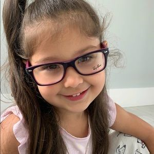 RayBan Junior Eyeglasses RY1531 3702 Violet Purple
